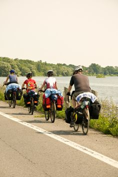 Enjoy the outdoors in The Great Waterway with a bike ride! Cycling along the St Lawrence River in Ontario St Lawrence, The St, Get Outside, Biking, Touring, Ontario, Trail, Cycling, Bicycle