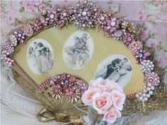 Image detail for -Romantic Victorian Jeweled Fan Frame Vintage Era 2 By Debbie Del ...