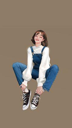 Pop Art Wallpaper, Cute Girl Wallpaper, Cute Girl Drawing, Cute Art Styles, Digital Art Girl, Cute Cartoon Wallpapers, Fashion Art, Fashion Design, Anime Art Girl
