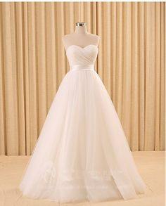 Elegant Wedding Dress Sweetheart Tulle Pleat Off the Shoulder Wedding Dress Prom Dress