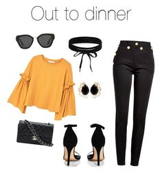 Designer Clothes, Shoes & Bags for Women Quail, Balmain, Boohoo, Polyvore Fashion, Prada, Mango, Chanel, Shoe Bag, Night