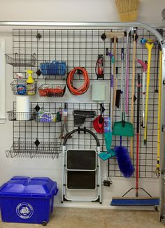 gridwall was the perfect solution for organizing my garage grid wall was simple sturdy