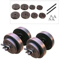 Gold's Gym 40 Pound LB Vinyl Cement Dumbbell Weight Set - http://sports.goshoppins.com/exercise-fitness-equipment/golds-gym-40-pound-lb-vinyl-cement-dumbbell-weight-set/