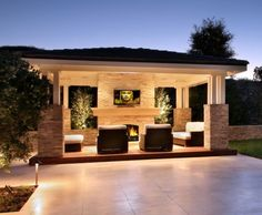 outdoor living room on patio