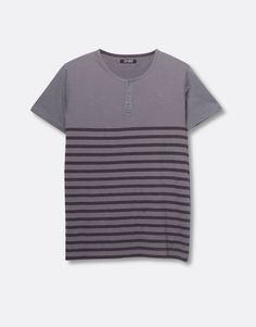 SHORT-SLEEVE STRIPED T-SHIRT - T-SHIRTS - MAN - PULL&BEAR Indonesia