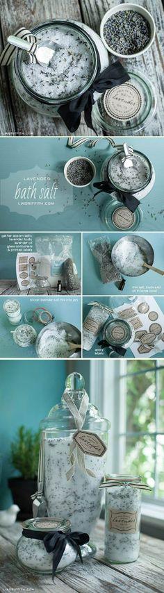 Homemade levander bath salts