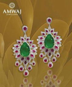 @amwaj_jewellery Summer love ❤️ #earrings #diamond #love #luxury #jewelry  #jewels  ️