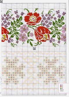Cross Stitch Rose, Cross Stitch Borders, Cross Stitch Animals, Cross Stitch Flowers, Cross Stitch Charts, Cross Stitch Designs, Cross Stitch Patterns, Basic Embroidery Stitches, Embroidery Patterns Free