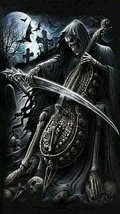 The darkness in me on Pinterest | Skull, Grim Reaper and Skeletons