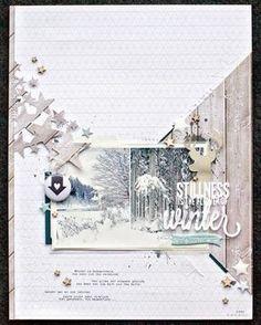 Scrapbooking A4 - Blanc comme neige - Le scrap de Sabine