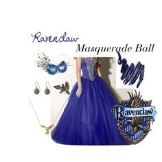 Ravenclaw: Masquerade Ball, created by nearlysamantha on Polyvore