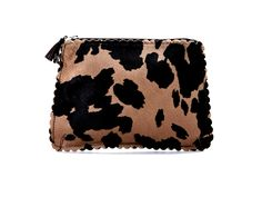 Animal Print Pouches by Vivre:: loooooove the scalloped edge!