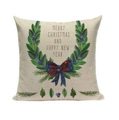 LUXURIOUS Christmas throw pillow covers, Cushion/Pillow Cover 18 x 18 Inch