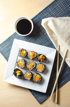 Sweet Potato Wild Rice Cinnamon Sushi | 15 Non-Traditional Veggie Sushi Recipes You'll Absolutely Love