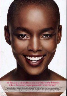 Flaviana Matata. On the secret to gorgeous skin.