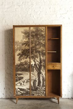 wardrobe doors with wall paper