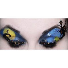 nightmare before christmas eye makeup ❤ liked on Polyvore