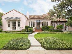 curb appeal hgtv exterior pink copy colors charming florida mediterranean paint warna backyard inviting california homes cat luar awning rumah