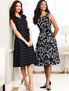 Two of some of my favorite dresses!! I LOVE Talbot's styles! :-)