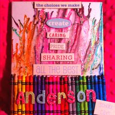 My daughter Zoe and I did this over the weekend added glitter after melting the crayons  This was a  fun project