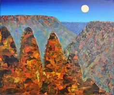 Peter Coad 'Three Sisters Study - Blue Mountains' 25cm x 30cm#14541