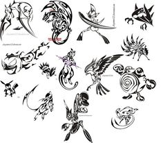 Tribal tattoo Pokemon? I'll pass on getting one but they are still pretty cool.