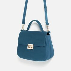 Shop Women's Zara Blue size OS Satchels at a discounted price at Poshmark. Description: Brand new with tags, sky blue, fastening to close, crossbody strap attached. Cheap Purses, Cheap Handbags, Cheap Bags, Prada Handbags, Fashion Handbags, Purses And Handbags, Fashion Bags, Fashion Top, Western Purses