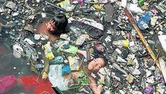 schwimmen im #Müll