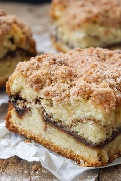 Cinnamon-Streusel Coffeecake Recipe. We made this for Christmas breakfast, it was super easy and delicious.