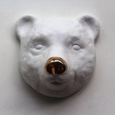 Máscara Urso Focinho Dourado