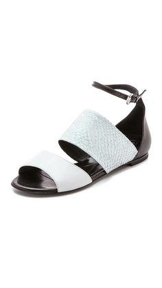 McQ - Alexander McQueen Erin Flat Strap Sandals