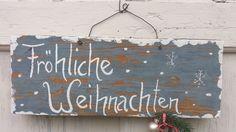 """Weihnachtsdeko - Schild """"Fröhliche Weihnachten"""" - ein Designerstück von HausNo7 bei DaWanda"""