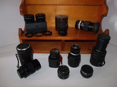 Vintage Collection of 9 Camera Lenses by Thetoolroom on Etsy, $95.00