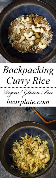 EASY Vegan Curry Rice! Perfect for backpacking or a fast meal! Just add hot water. #vegan #backpacking #recipe #glutenfree