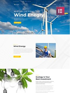Previous Next View on Template Monster Business Website Templates, Best Investments, Business Design, Ecology, Wind Turbine, Web Design, Layouts, Amp, Design Web