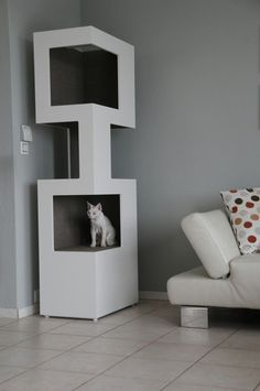 Cat tree cat Tower the one white modern design cat furniture online order