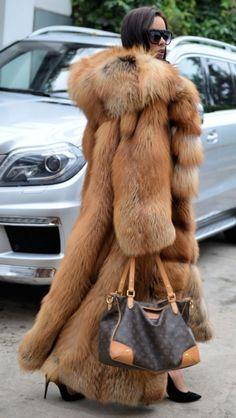 NEW GOLD ROYAL FOX FUR LONG COAT HOOD CLASS- CHINCHILLA SABLE MINK SILVER JACKET