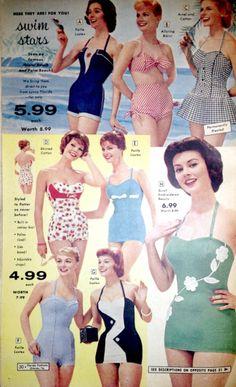 Glamorous 50s swimsuits!