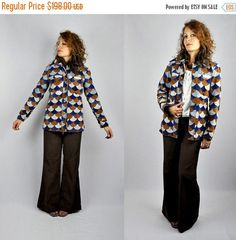 30% OFF SALE LEATHER Jacket  Scalloped Leather  Color Block