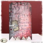 Tuesday Tutorial: Picket Fence Distress Stain Stenciled Background by Tammy Tutterow.