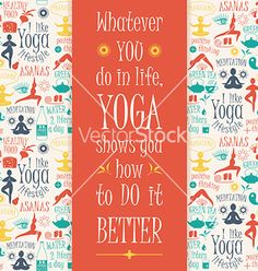 Yoga background with yogic quote vector 4109775 - by Nadezhda on VectorStock®