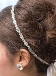 Rhinestone Bridal Headband Bridal Headpiece // Pinned by Dauphine Magazine x Castlefield - Curated by Castlefield Bridal Company & Branding Atelier and delivering the ultimate experience for the haute couture connoisseur! Visit www.dauphinemagazine.com, @dauphinemagazine on Instagram, and @dauphinemag on Pinterest • Visit Castlefield: www.castlefield.co and @ castlefieldco on Instagram / Luxury, fashion, weddings, bridal style, décor, travel, art, design, jewelry, photography, beauty…