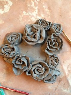 Simple Clay Rose Hearts