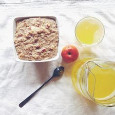 Apple cinnamon oats  #Padgram