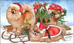 Новогодние и рождественские открытки от Margaret Sweeney