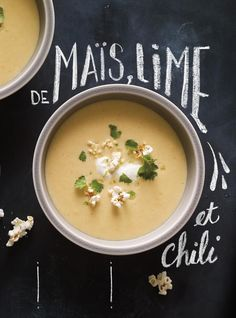 Crème de maÏs, lime et chili