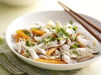 Coconut-poached chicken on thai vermicelli salad from Cooking from the Pantry.