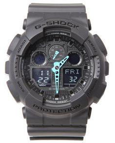GA-100 Neon Highlights Watch by G-Shock by Casio  @ DrJays.com