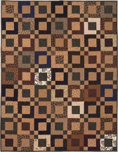 @Martingale / That Patchwork Place has a gorgeous geometric design that you can make with your own jelly roll quilt patterns. A scrappy quilt pattern like this will make an artistic wall hanging or beautiful throw for your living room.