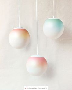 DIY Ombre Pendant Light & Other Cool Home Decor Projects | Industrial Modern Interior Lighting Ideas By DIY Ready. http://diyready.com/pendant-lighting/